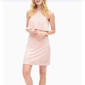 NWT Splendid Linen striped mini sun dress XS